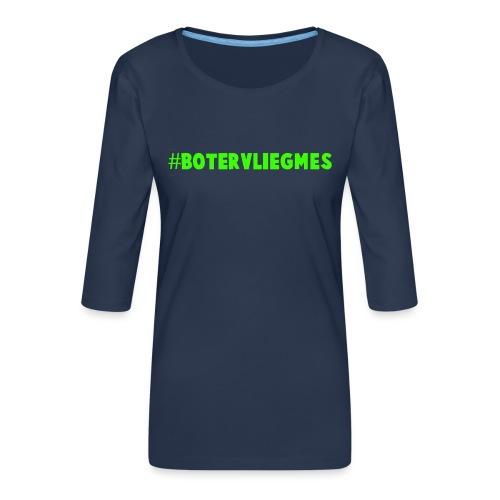 Botervliegmes hoodie (mannen) - Vrouwen premium shirt 3/4-mouw