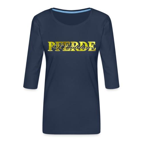 Pferdemädchen Reiten Pferd Geschenkidee - Frauen Premium 3/4-Arm Shirt