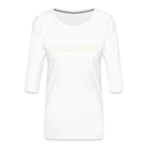 Hollyweed shirt - T-shirt Premium manches 3/4 Femme