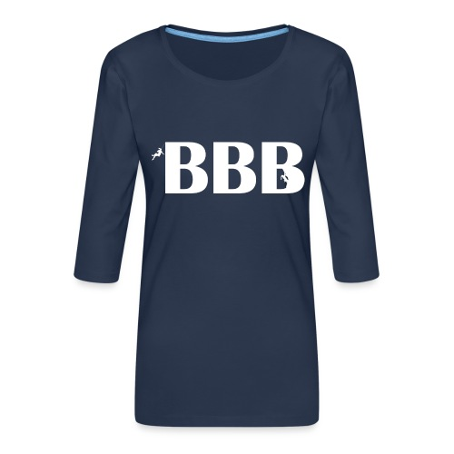 BBB Best Belay Buddy - Frauen Premium 3/4-Arm Shirt