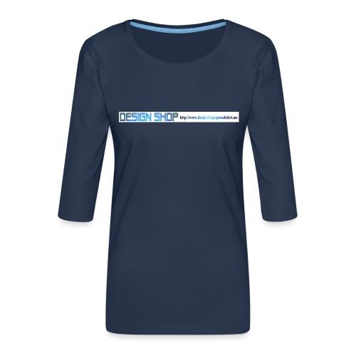ny logo lang - Premium T-skjorte med 3/4 erme for kvinner