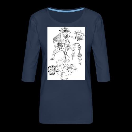 subconscientes colectivos II - Camiseta premium de manga 3/4 para mujer