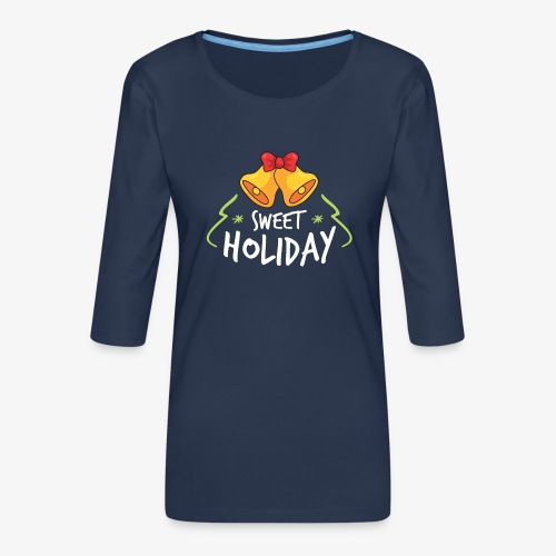 Sweet Holiday - T-shirt Premium manches 3/4 Femme