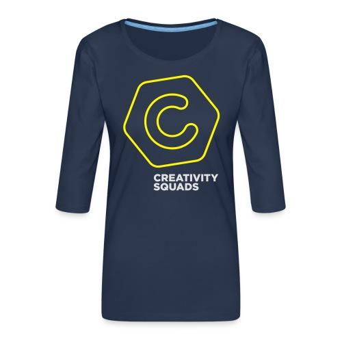 CreativitySquads 002 - Naisten premium 3/4-hihainen paita