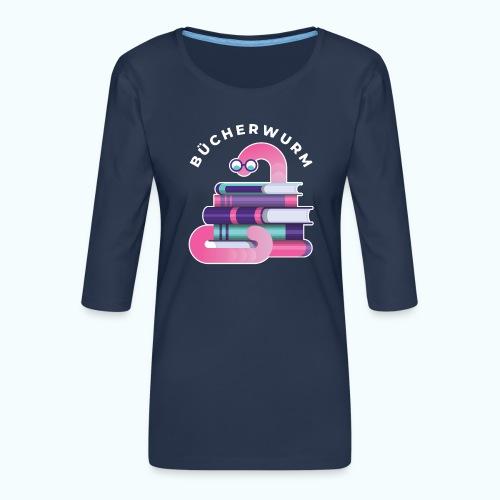 Bücherwurm - Women's Premium 3/4-Sleeve T-Shirt
