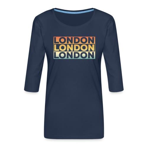Vintage London Souvenir - Retro SehnsuchtLondon - Frauen Premium 3/4-Arm Shirt