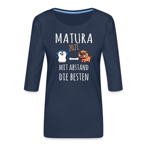 MBA Matura 2021 Hund Pinguin Shirt Geschenk - Frauen Premium 3/4-Arm Shirt