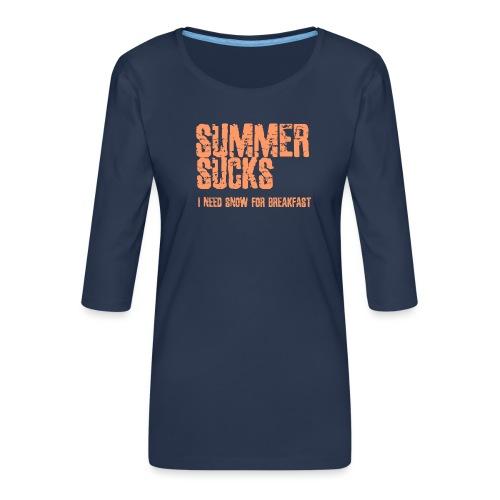 SUMMER SUCKS - Vrouwen premium shirt 3/4-mouw