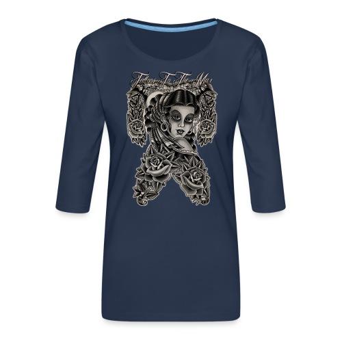 Gipsy Lady Flamenco Girl Chica Tattoos to the Max - Frauen Premium 3/4-Arm Shirt