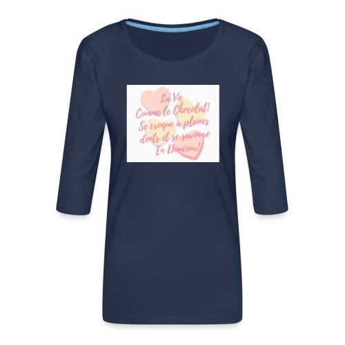 Croque la Vie! - T-shirt Premium manches 3/4 Femme