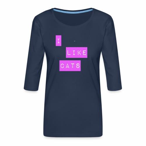 I like cats - Women's Premium 3/4-Sleeve T-Shirt