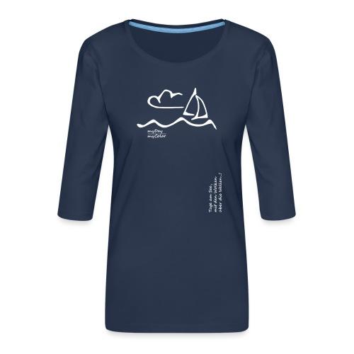 Über die Wellen!.. - Frauen Premium 3/4-Arm Shirt