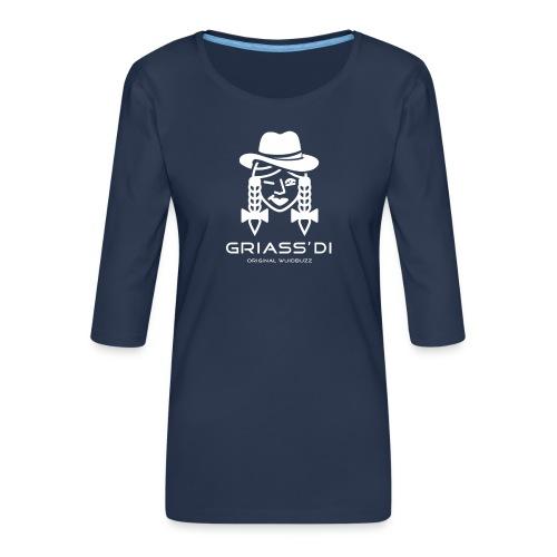 WUIDBUZZ | Griass di | Frauensache - Frauen Premium 3/4-Arm Shirt