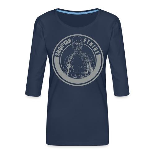 Albanien Kosovo Shqiptar Etnike Boletini - Frauen Premium 3/4-Arm Shirt