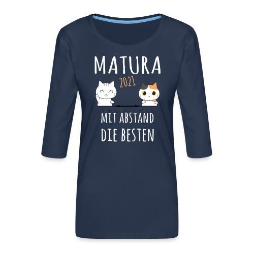 Matura 2021 Schule Corona Katze Shirt Geschenk - Frauen Premium 3/4-Arm Shirt