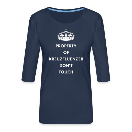 Kreuzfluenzer Don´t Touch WHITE - Frauen Premium 3/4-Arm Shirt