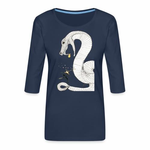 Poison - Combat contre un serpent venimeux géant - T-shirt Premium manches 3/4 Femme