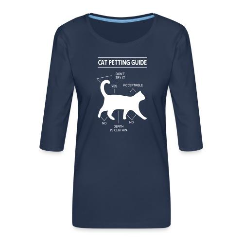 CAT GUIDE - T-shirt Premium manches 3/4 Femme