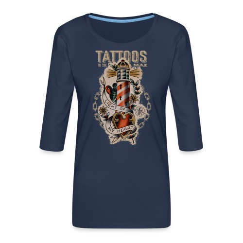 Lighthouse Leuchtturm Tattoos to the Max - Frauen Premium 3/4-Arm Shirt