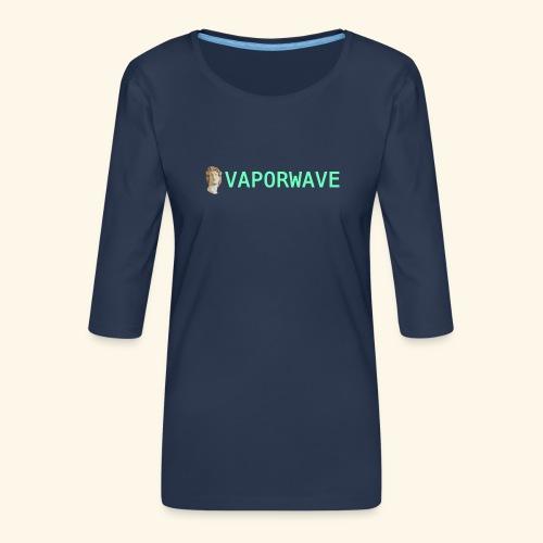 Roman Statue Vaporwave - T-shirt Premium manches 3/4 Femme