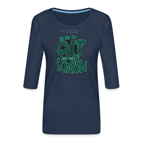Pandemie 2020 - Frauen Premium 3/4-Arm Shirt