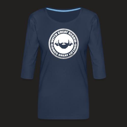 BEARD RESP - Women's Premium 3/4-Sleeve T-Shirt