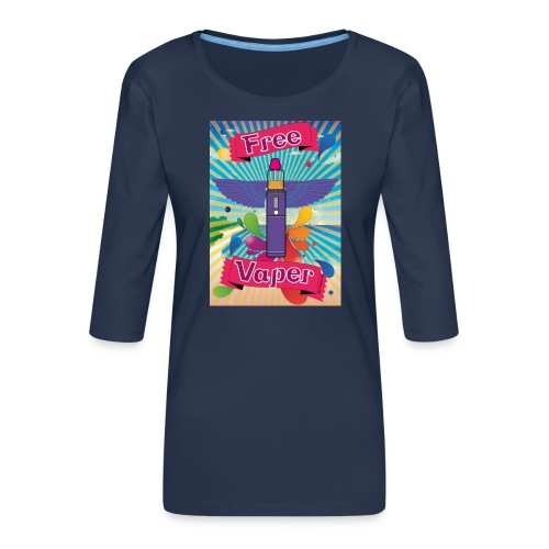 hawai png - T-shirt Premium manches 3/4 Femme