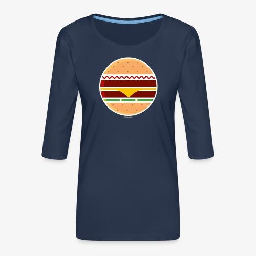 Circle Burger - Maglietta da donna premium con manica a 3/4