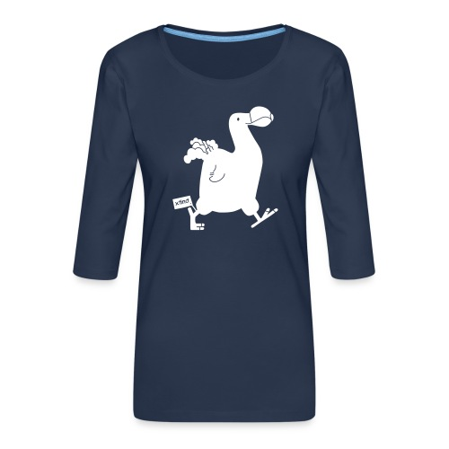 Hellgrau meliert Schwarz Seekuh - Riesenseekuh - Frauen Premium 3/4-Arm Shirt