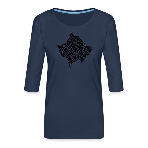 Kosovo Land mit allen Städten - Frauen Premium 3/4-Arm Shirt