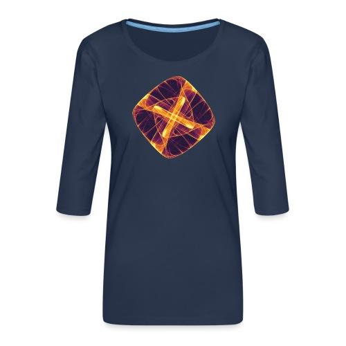 Chakra Mandala Mantra OM Chaos Star Circle 12255i - Women's Premium 3/4-Sleeve T-Shirt