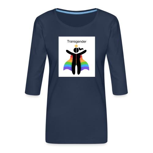 LGBT Transgender - Dame Premium shirt med 3/4-ærmer
