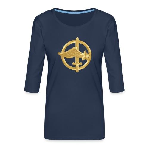 Tasse Fusiliers Commandos de l'Air - T-shirt Premium manches 3/4 Femme