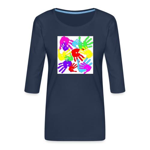 pastrocchio2 - Maglietta da donna premium con manica a 3/4