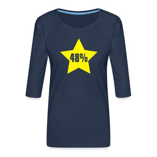 48% in Star - Women's Premium 3/4-Sleeve T-Shirt