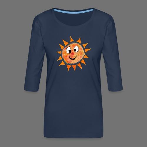 Słońce - Koszulka damska Premium z rękawem 3/4