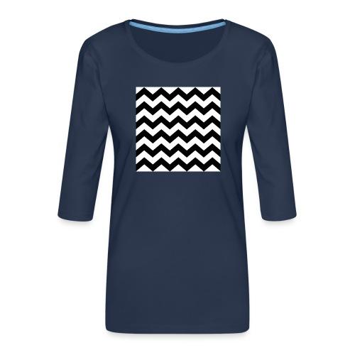 zigzag png - T-shirt Premium manches 3/4 Femme