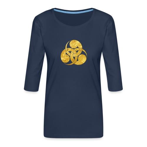 Tadpole Mon Japanese samurai clan - Women's Premium 3/4-Sleeve T-Shirt