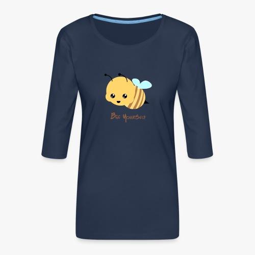 Bee Yourself - Dame Premium shirt med 3/4-ærmer