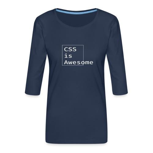 cssawesome - white - Vrouwen premium shirt 3/4-mouw