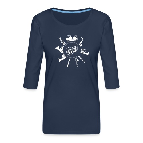 Instrumentenkreis_4000_ws - Frauen Premium 3/4-Arm Shirt