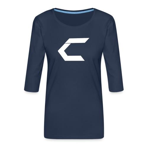 TCM LOGO - Dame Premium shirt med 3/4-ærmer