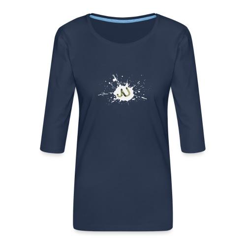 logo2 6 pinkki - Naisten premium 3/4-hihainen paita