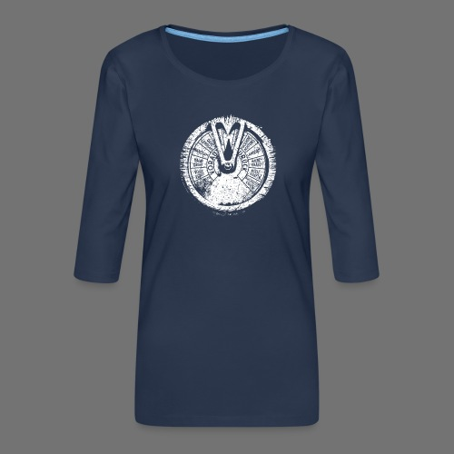 Maschinentelegraph (biały oldstyle) - Koszulka damska Premium z rękawem 3/4