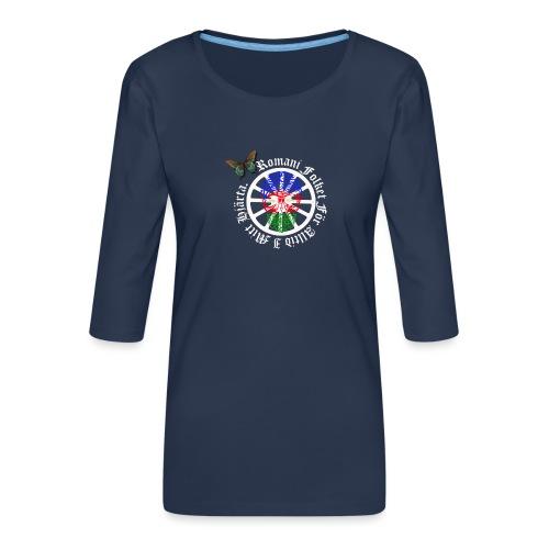 LennyhjulRomaniFolketivitfjerliskulle - Premium-T-shirt med 3/4-ärm dam