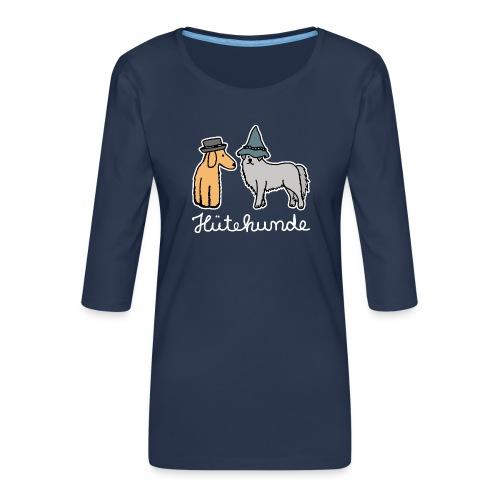 Hütehunde Hunde mit Hut Huetehund - Frauen Premium 3/4-Arm Shirt