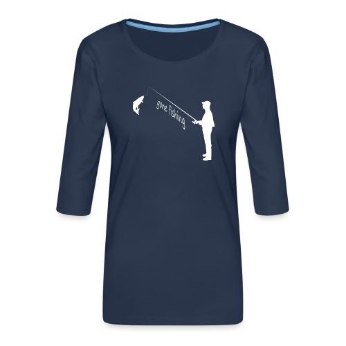 Angler gone fishing - Frauen Premium 3/4-Arm Shirt