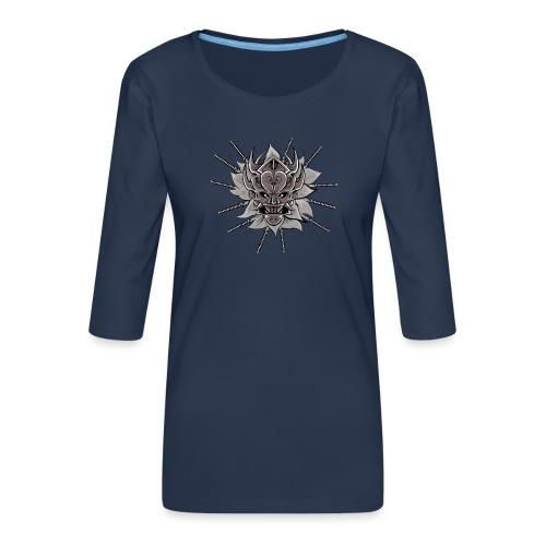 Lotus Of The Samurai - Vrouwen premium shirt 3/4-mouw
