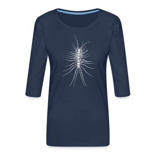 Scutigère - T-shirt Premium manches 3/4 Femme