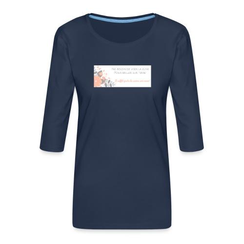 Viser la Lune - T-shirt Premium manches 3/4 Femme